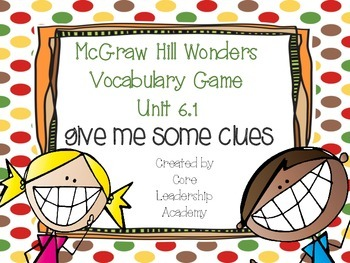 Wonders Give me a Clue Game 6.1