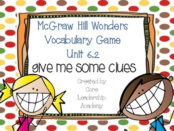 Wonders Give me a Clue Game 6.2
