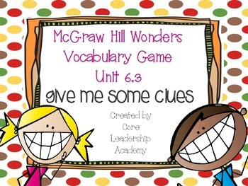Wonders Give me a Clue Game 6.3