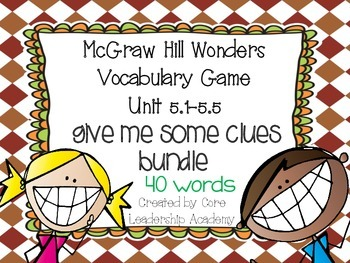 Wonders Give me a Clue Game Bundle 5.1~ 5.5