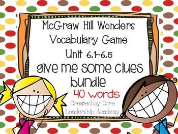Wonders Give me a Clue Game Bundle 6.1~ 6.5