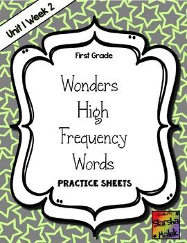 Wonders Grade 1 HFW Review Sheets Unit 1 Week 2