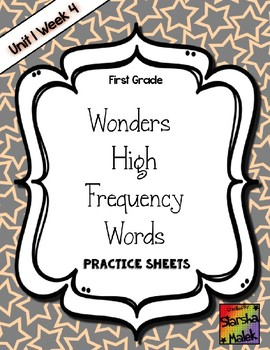 Wonders Grade 1 HFW Review Sheets Unit 1 Week 4