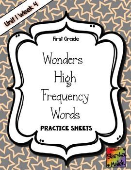 Wonders Grade 1 HFW Review Sheets Unit 1 Week 4