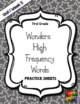 Wonders Grade 1 HFW Review Sheets Unit 1 Week 5
