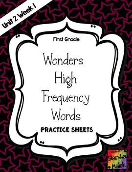 Wonders Grade 1 HFW Review Sheets Unit 2 Week 1 (S.Malek)