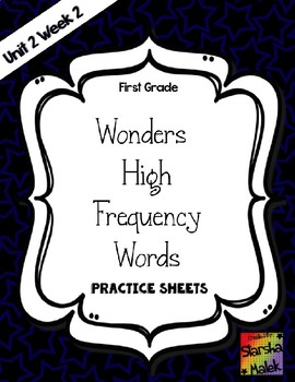 Wonders Grade 1 HFW Review Sheets Unit 2 Week 2 (S.Malek)