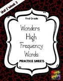 Wonders Grade 1 HFW Review Sheets Unit 2 Week 3 (S.Malek)