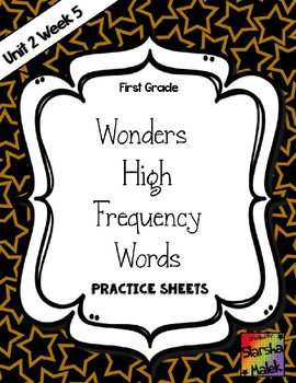 Wonders Grade 1 HFW Review Sheets Unit 2 Week 5 (S.Malek)