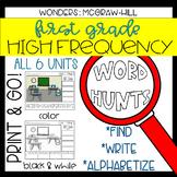 Wonders Grade 1 High Frequency Word Hunts: Magnifying Glass Fun!