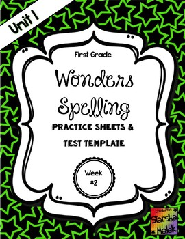Wonders Grade 1 Unit 1 Week 2 Spelling Review Sheets (S.Malek)