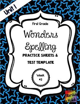 Wonders Grade 1 Unit 1 Week 3 Spelling Review Sheets (S.Malek)