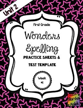 Wonders Grade 1 Unit 2 Week 1 Spelling Review Sheets (S.Malek)