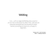 Wonders Grade 1 Unit 2 Week 2 Writing and Grammar PPT