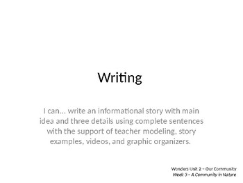 Wonders Grade 1 Unit 2 Week 3 Writing and Grammar PPT