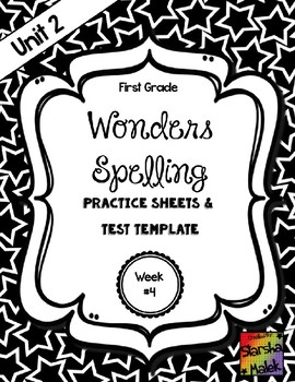 Wonders Grade 1 Unit 2 Week 4 Spelling Review Sheets (S.Malek)