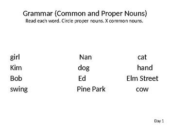 Wonders Grade 1 Unit 2 Week 4 Writing and Grammar PPT