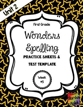 Wonders Grade 1 Unit 2 Week 5 Spelling Review Sheets (S.Malek)
