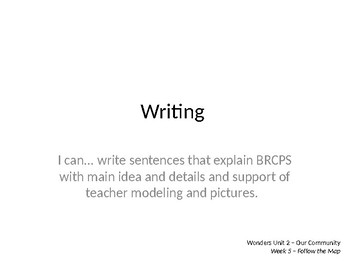 Wonders Grade 1 Unit 2 Week 5 Writing and Grammar PPT