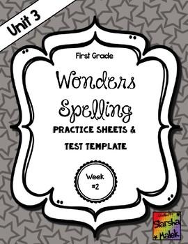 Wonders Grade 1 Unit 3 Week 2 Spelling Review Sheets (S.Malek)