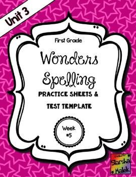 Wonders Grade 1 Unit 3 Week 5 Spelling Review Sheets (S.Malek)