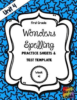 Wonders Grade 1 Unit 4 Week 1 Spelling Review Sheets (S.Malek)