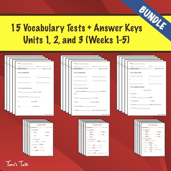Wonders Grade 1: Words to Know Semester 1 BUNDLE (Units 1-3)