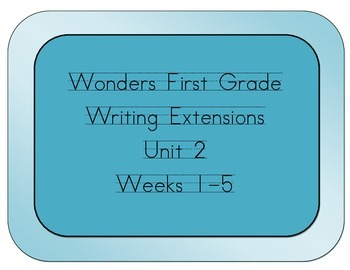 Wonders Grade 1 Writing Extensions for Unit 2