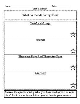 Wonders Grade 1 Written Responses