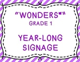 Wonders Grade 1 Year-Long Signage/Posters