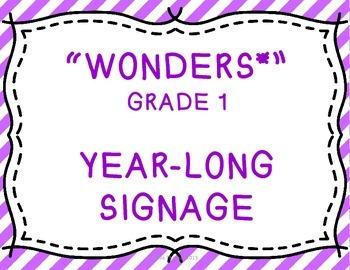 Wonders Grade 1 Year-Long Signage/Posters
