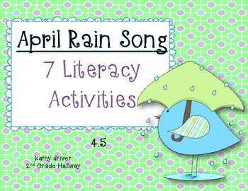Wonders Grade 2 April Rain Song 4.5 {7 Literacy Activities}