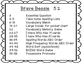 Wonders Grade 2 Brave Bessie 5.3 {8 Literacy Activities}