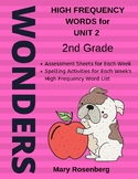 Wonders Grade 2 High Frequency Words Unit 2