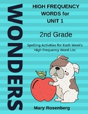 Wonders Grade 2 High Frequency Words for Unit 1