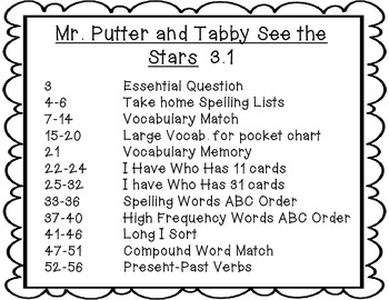 Wonders Grade 2 Mr. Putter and Tabby See the Stars {8 Literacy Activities}