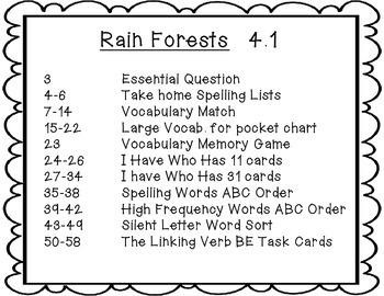 Wonders Grade 2  Rain Forests 4.1 {7 Literacy Activities}