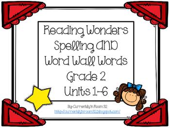 Wonders Grade 2 Spelling and Word Wall Words