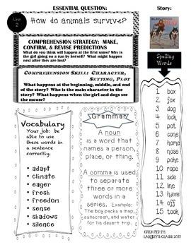 Wonders Grade 2 Unit 2 For Parents