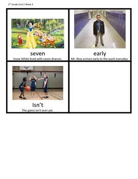 Wonders Grade 2 Unit 2 Week 4 Spelling Picture Cards