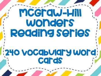 Wonders Grade 2 Vocabulary Cards