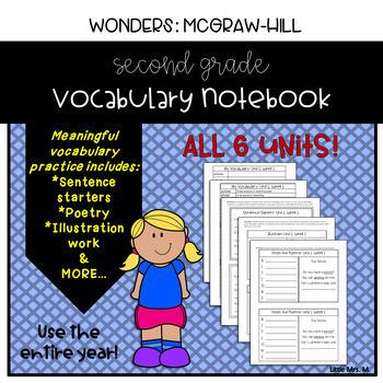 Wonders Grade 2 Vocabulary Notebook Bundle