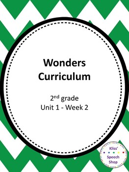 Wonders Grade 2 Vocabulary Unit 1 Week 2