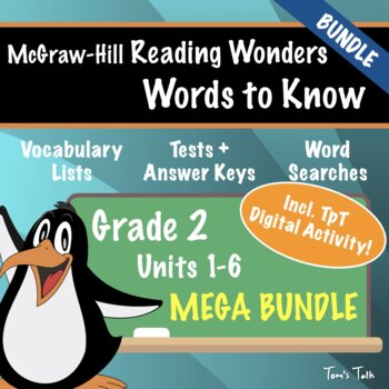 Wonders Grade 2: Words to Know MEGA BUNDLE (All Units)