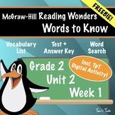 *FREE* Wonders Grade 2: Words to Know (Unit 2, Week 1) - V