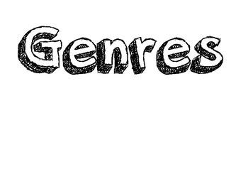 Wonders Grade 3 Focus Wall (Genres)