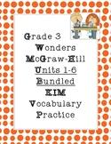 Wonders Grade 3 :: KIM Vocabulary :: ALL 6 UNITS :: BUNDLE