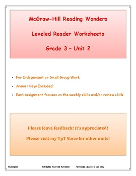 Wonders Grade 3 Leveled Reader Unit 2