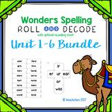 Wonders Grade 3 Spelling Roll and Decode Fluency Game Bundle Units 1-6