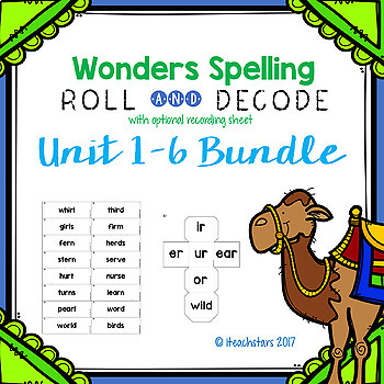 Wonders Grade 3 Spelling Roll and Decode Fluency Game Bundle Units 1-6